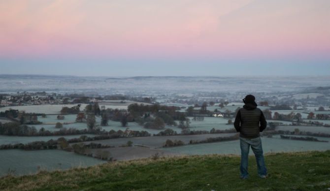Where UFO watchers have been visiting for 40 years, Cley Hill in Warminster, Somerset, the